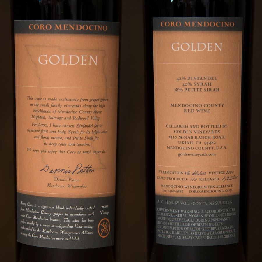2002 Golden Vineyards Magnum