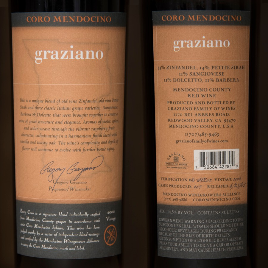 2002 Graziano Family Wines 750ml Image
