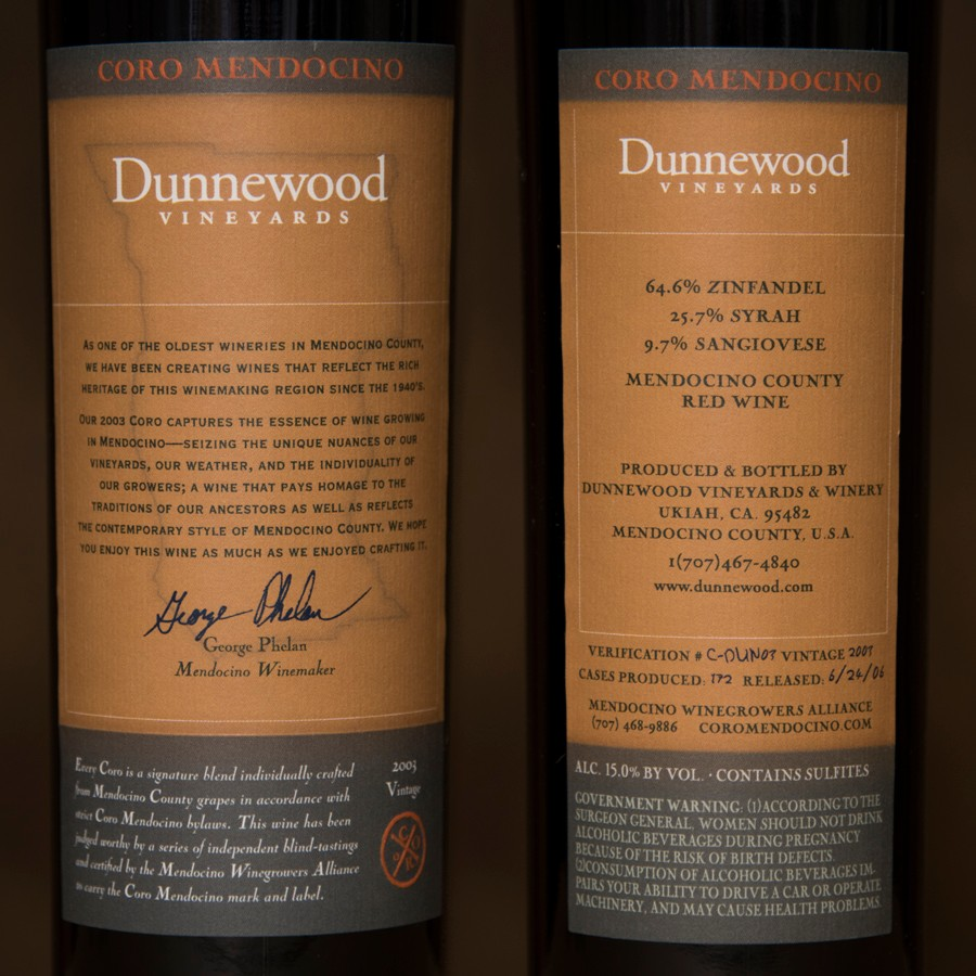 2003 Dunnewood Vineyards 750ml