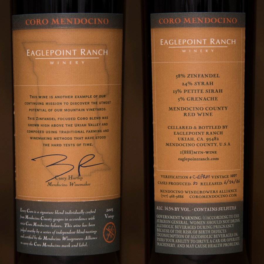 2003 Eaglepoint Ranch 750ml