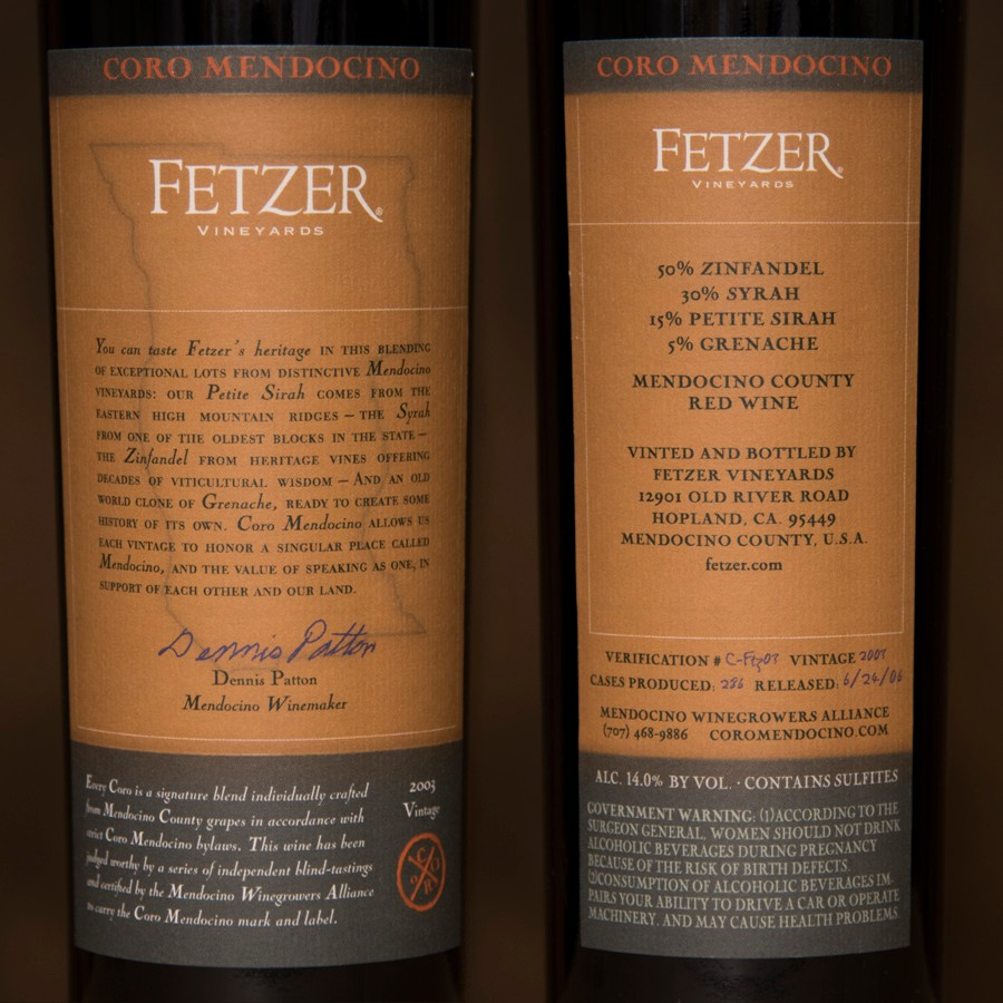 2003 Fetzer Vineyards Magnum
