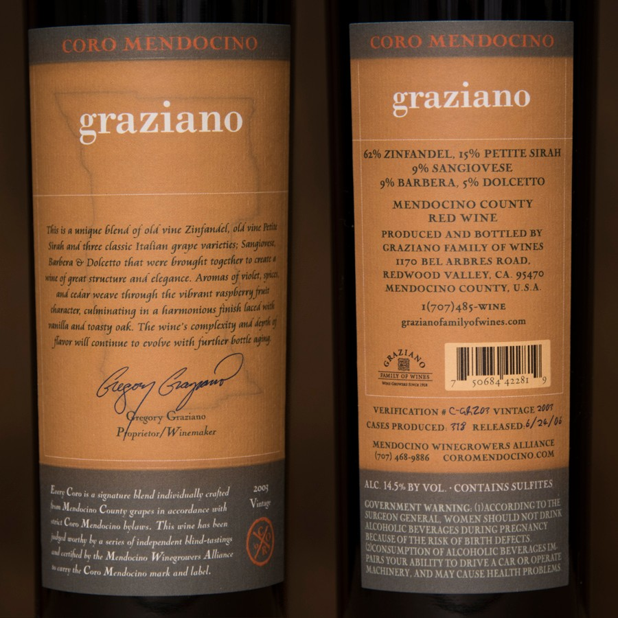 2003 Graziano Family Wines 750ml