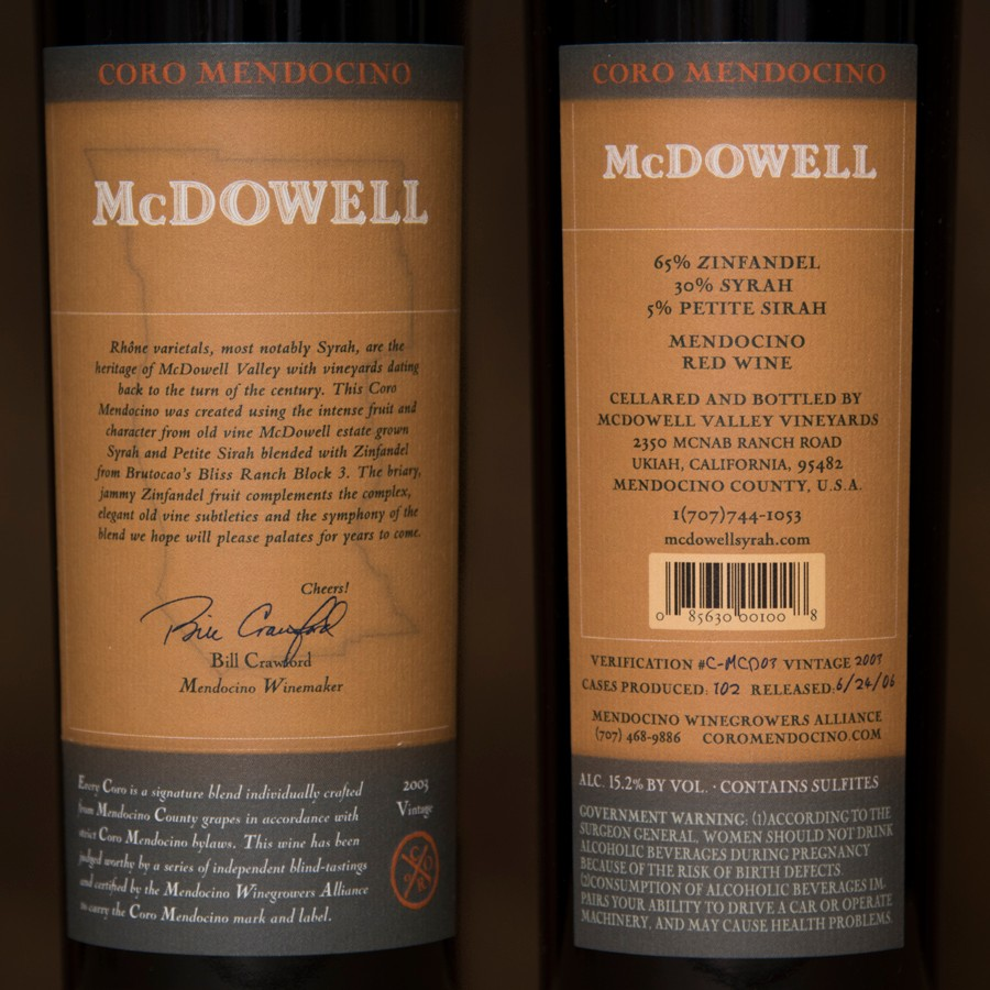 2003 McDowell Valley Vineyards Magnum Image