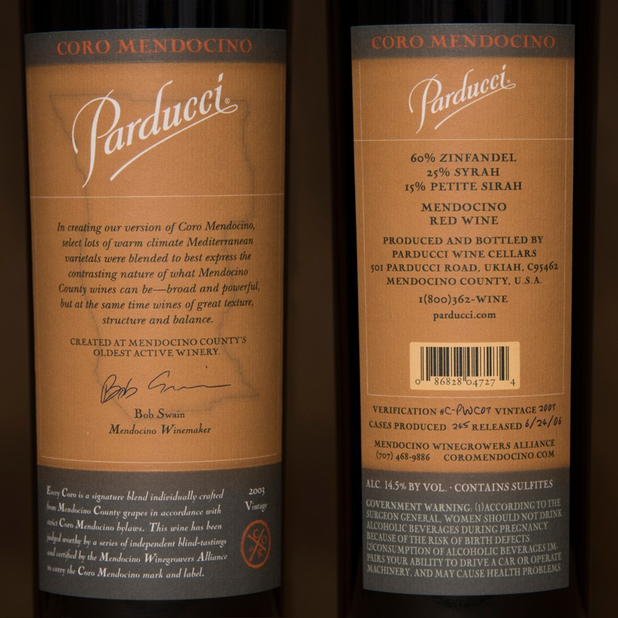 2003 Parducci Wine Estate 750ml Image