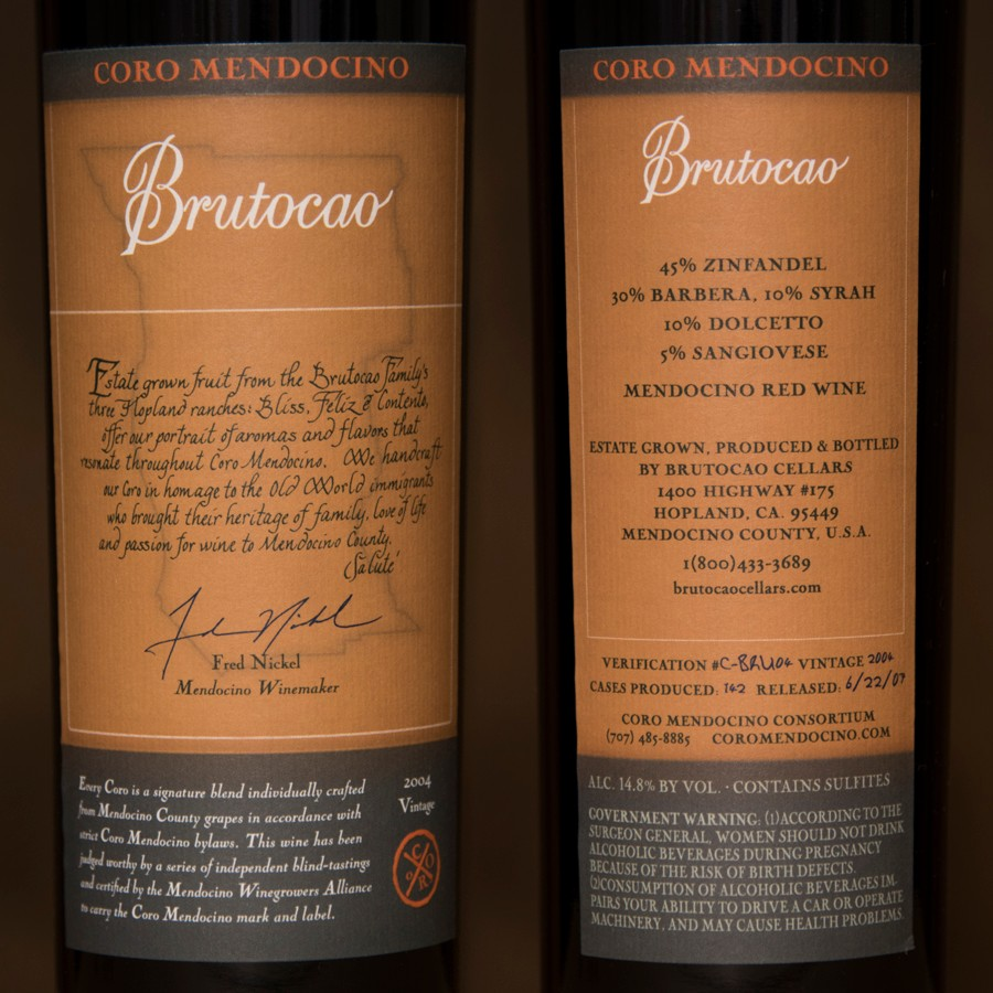 2004 Brutocao Cellars 750ml