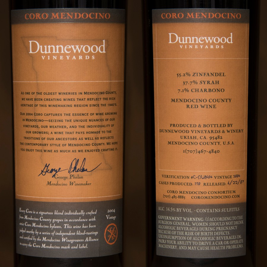 2004 Dunnewood Vineyards 750ml