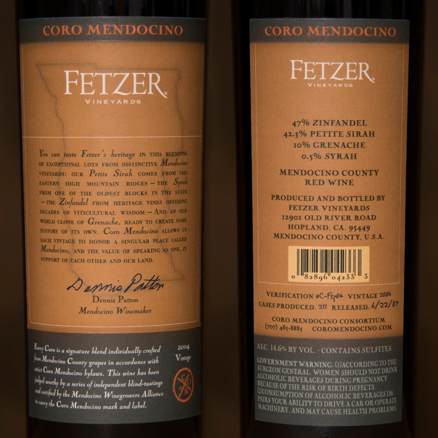 2004 Fetzer Vineyards 750ml