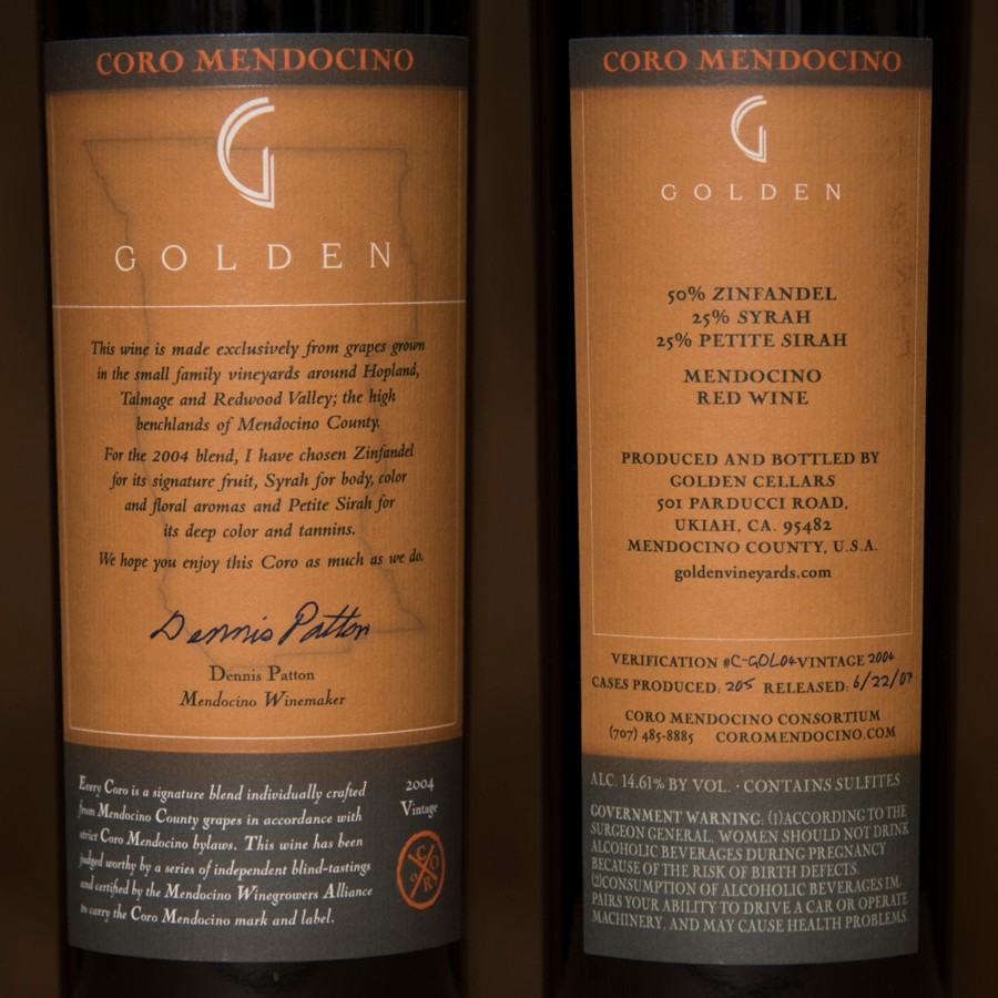 2004 Golden Vineyards 750ml