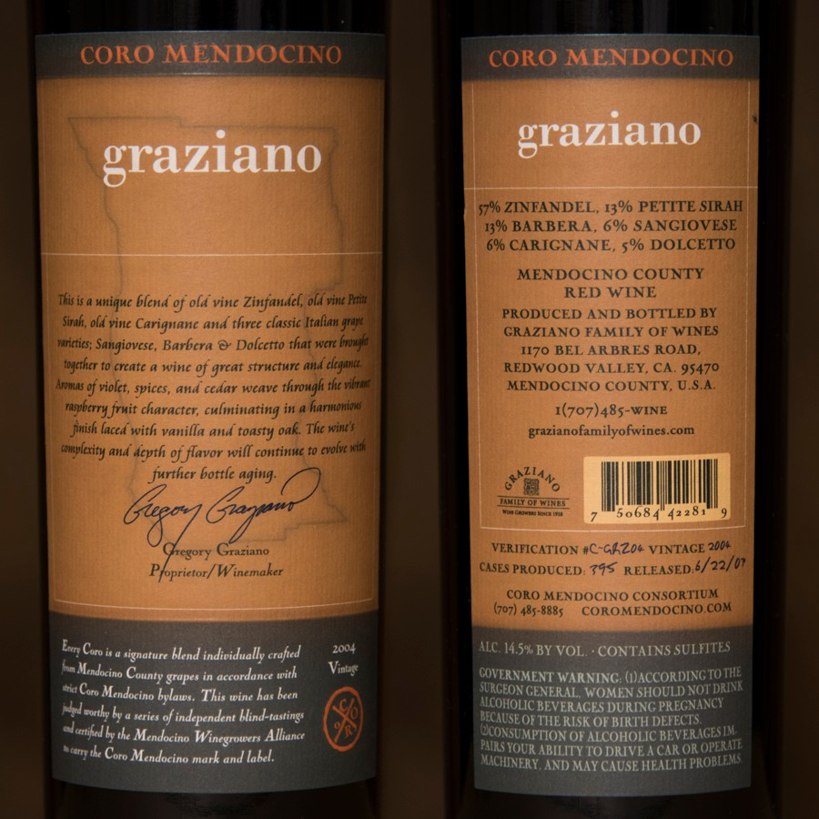 2004 Graziano Family Wines 750ml