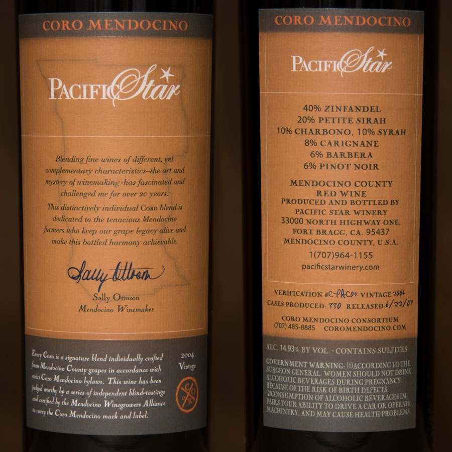 2004 Pacific Star Winery 750ml