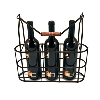 Vintage 3 Bottle Carrier