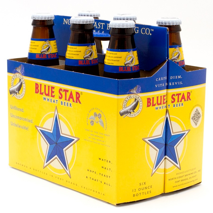 North Coast Brewing Blue Star Wheat Beer (6-pack)