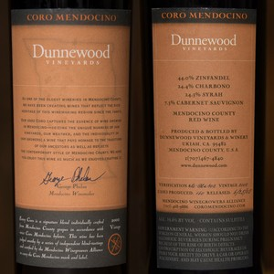 2002 Dunnewood Vineyards 750ml