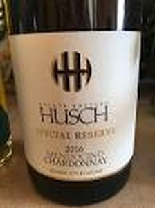 Husch 2016 Chardonnay Special Reserve